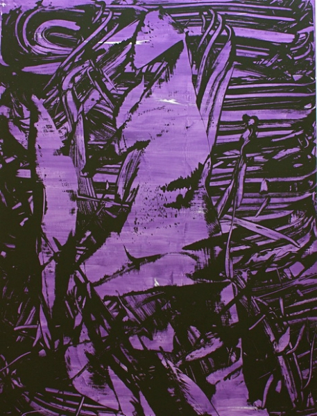 Judy Millar lucifer-1-purple-2011-acrylic-on-canvas-270x200cm