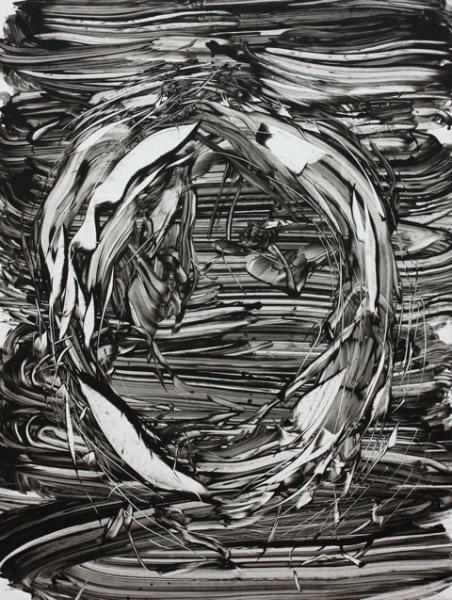 Judy Millar untitled-2011-136x95cm