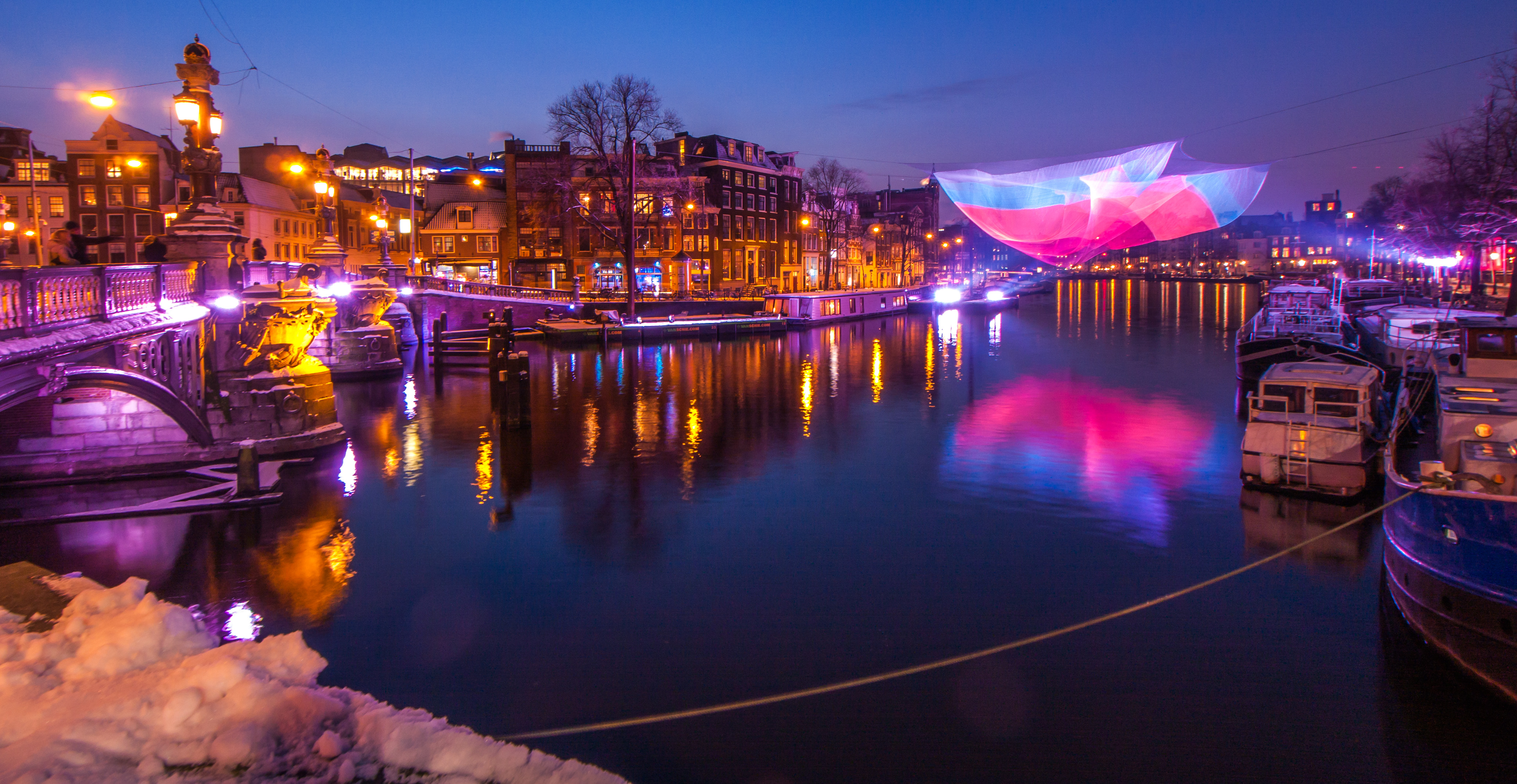 Amsterdam Light Festival on the Amstel river