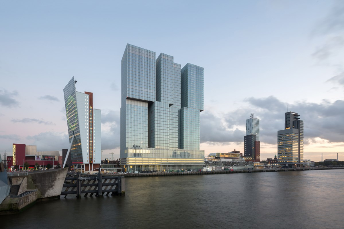 Rem Koolhas building on the Maas river